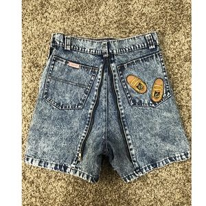 VTG acid wash shorts/mini skirt